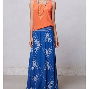 Anthropologie Ping Maxi Skirt